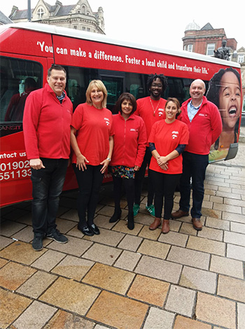 The Fostering for Wolverhampton campaign bus
